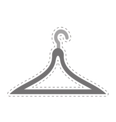 Clothes hanger icon image vector