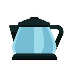 Small blue kettle vector