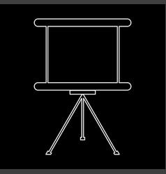 Business presentation board the white path icon vector