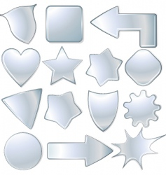 metal signs vector image