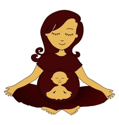Meditating mother vector