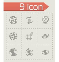 glode icon set vector image