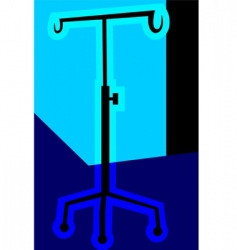 Drip stand vector