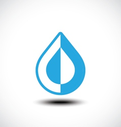 Abstract blue water drop vector