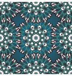 Green and blue mandala seamless vector image