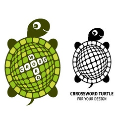 Crossword turtle vector image