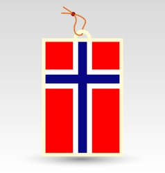 Norwegian made in tag vector