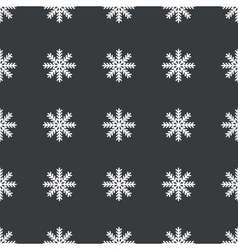 Straight black snowflake pattern vector