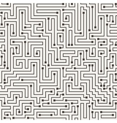 Seamless pattern in the form of a labyrinth vector