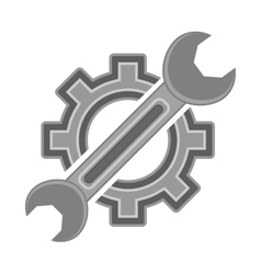 Hear and wrench service icon vector