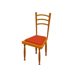 Brown chair icon in cartoon style vector