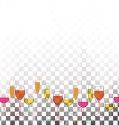 Alcoholic Bar menu vector image