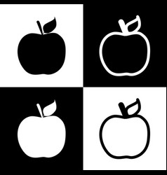 Apple sign black and white vector