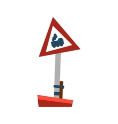 Attention train road sign vector