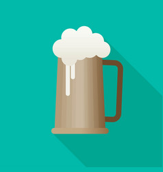Beer flat icon with long shadow eps10 vector