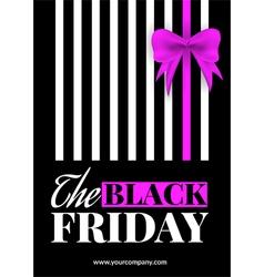 Black friday sale flyer vector image vector image