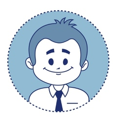 Character smiling clerk vector