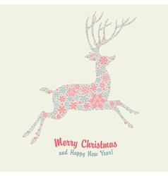 Christmas deer card vector