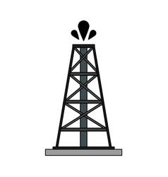 Color image cartoon oil crude tower vector