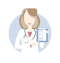 Doctor woman icon vector