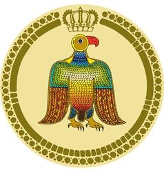 Eagle Round Emblem vector image