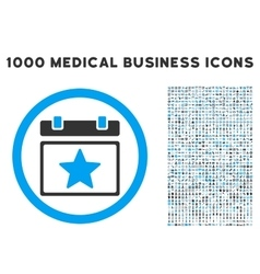 Favourites Day Icon with 1000 Medical Business vector image