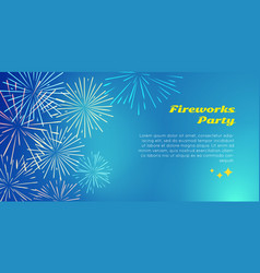 fireworks party color fireworks explosion elements vector image vector image