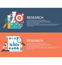 Flat style business research infographic concept vector image vector image