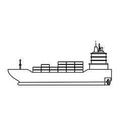 Freigther boat ship vector