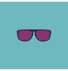 Glasses flat icon vector