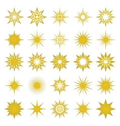 golden sparks and sparks elements and symbols vector image vector image