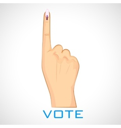 Hand with voting sign of india vector