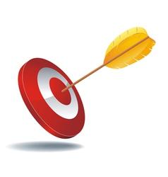 icon target arrow vector image vector image