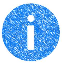 info grunge icon vector image