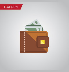 isolated cash flat icon finance element vector image vector image