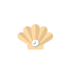 Isolated pearl flat icon conch element can vector