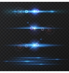 Light effect flare lighting vector image