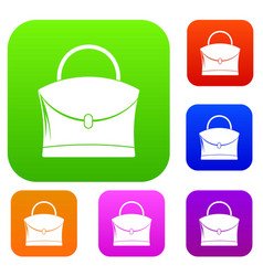 little woman bag set color collection vector image vector image