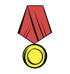 Medal icon cartoon vector