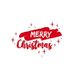 Merry christmas text quote lettering vector