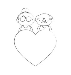 old couple in love vector image