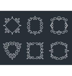 Outline monogram frames vector image vector image