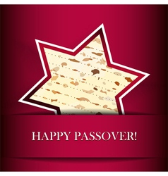 Passover card with matza Star of David shape vector image