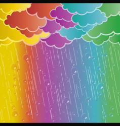 rainbow rains vector image vector image