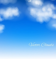Realistic Sky vector image vector image
