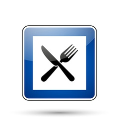 Restaurant road sign vector
