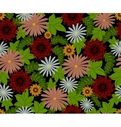 seamless pattern with flowers EPS10 vector image vector image