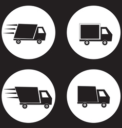 shipping truck vector image vector image