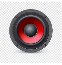 Speaker on transparent vector image vector image