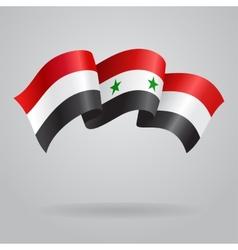 Syrian waving flag vector